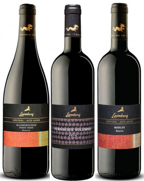 Laimburg- 6er Weinpaket Rotwein 3 Sorten