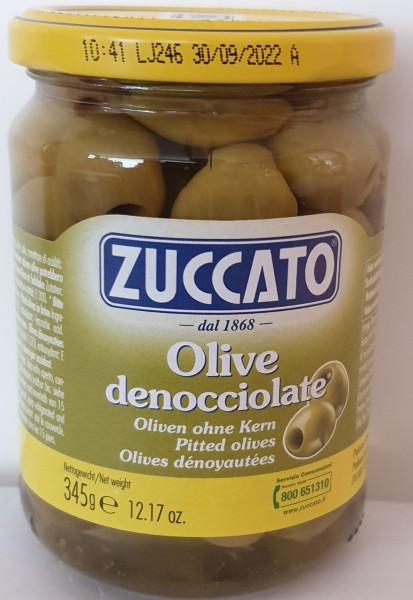 ZUCCATO Olive Verdi denocciolate / grüne Oliven ohne Kern 345 gr.