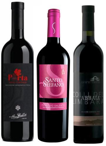 Rotwein 6er Weinpaket San Rustico, Zecca, Vermentino.